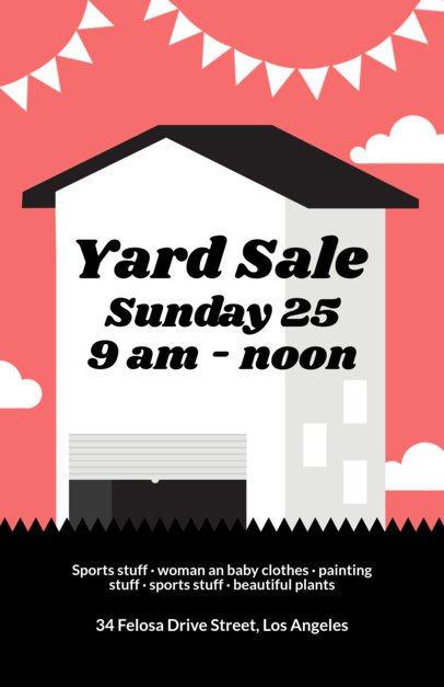 Yard Sale Flyer Template a104