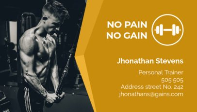 Personal Trainer Business Card Template a91