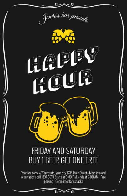 Happy Hour Flyer Maker a94
