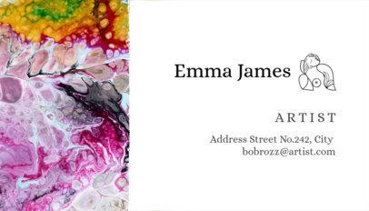 Artist Business Card Template a89