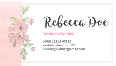 Business Card Template for Wedding Planners 113