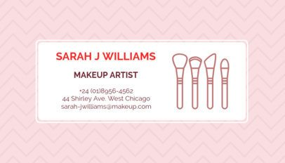 Makeup Artist Business Card Maker a112