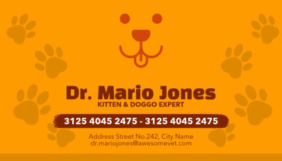 Veterinarian Business Cards Maker a144