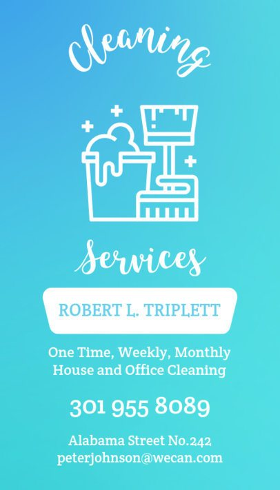 Cleaning Services Business Card Maker a164