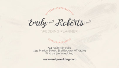 Event Planner Business Card Maker a132