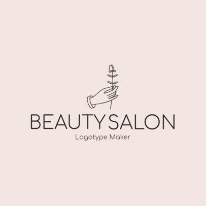 Beauty Salon Logo Maker - Flower Graphics a1137