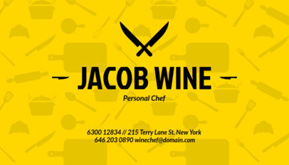 Catering Business Card a122