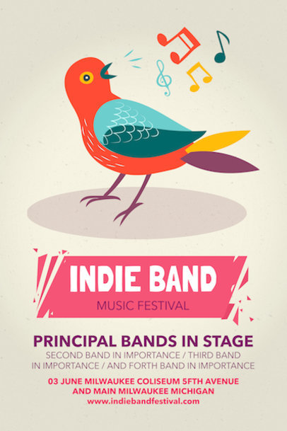 Online Poster Maker for Indie Music Festivals a60
