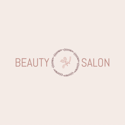 Beauty Salon Logo Maker - Center Graphic a1150