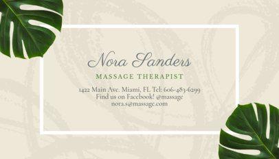 Massage Therapist Business Card Maker a150