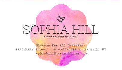 Florist Business Card Maker a152