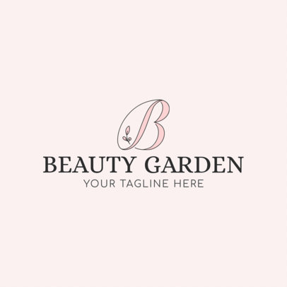 Beauty Salon Logo Maker - Capital Letter Graphics a1138