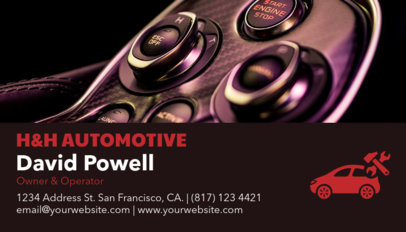 Auto Shop Business Card Maker a158