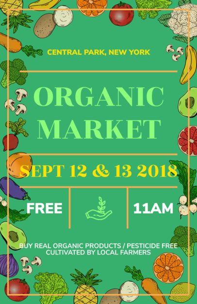 online flyer maker for organic markets a177