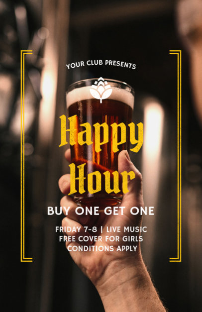 Online Flyer Maker for Happy Hour Flyers a173