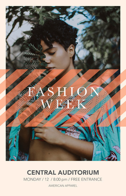 Online Flyer Maker to Design a Fashion Show Flyer a167
