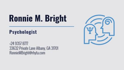 Psychologist Business Card Template a189