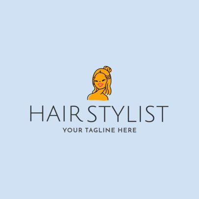 Hair Salon Logo Maker with People Illustrations a1162