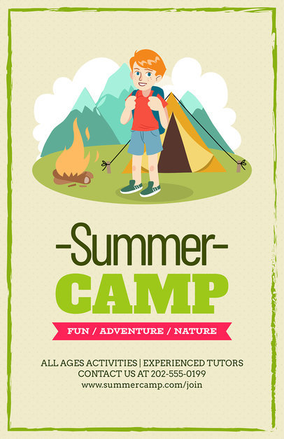 Online Flyer Maker for Summer Camp Flyers a196