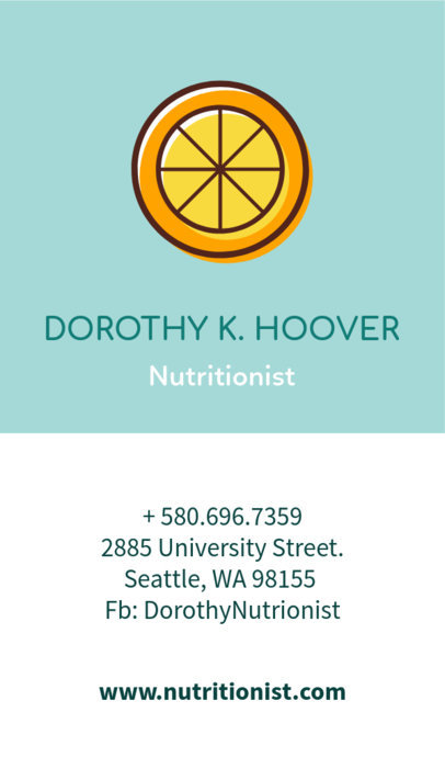 Nutritionist Business Card Maker a215