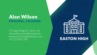 Business Card Maker for School Staff Members 228