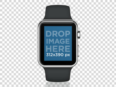 Black Apple Watch Sport Mockup