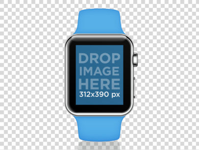 Blue Apple Watch Sport