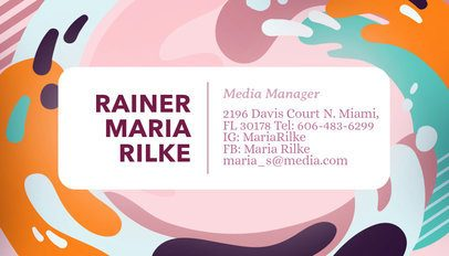 Artsy Business Card Template a246
