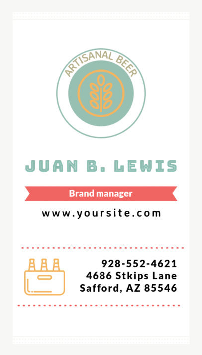 Vertical Brewery Business Card a261