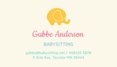 Babysitting Business Card Template a256
