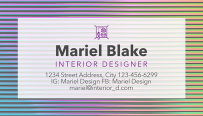 Interior Designer Business Card Maker a243