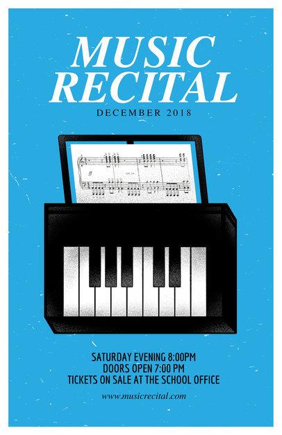 Recital Flyer Maker a192