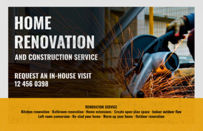 Horizontal Contractor Flyer Maker a287