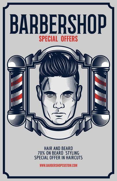 Barber Shop Flyer Maker a218