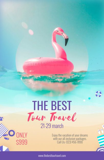 Travel Flyer Maker with Vacation Images a324