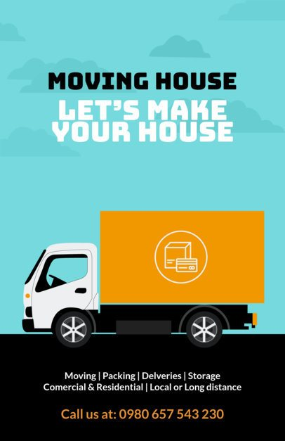 Flyer Maker for Moving Companies with Illustrated Graphics a318