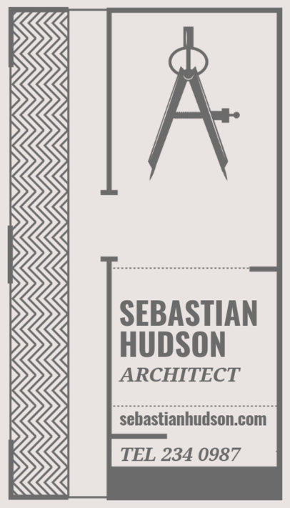 Vertical Business Card Maker for Architect Business Cards a306