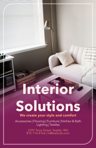 Flyer Maker for Interior Design Flyers a317