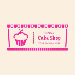 Rectangular Logo Maker for Bakery Stores 354c
