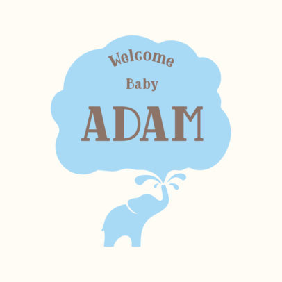 Welcome Baby Boy T-Shirt Design Template 1021a