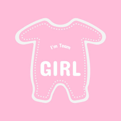 It's a Girl T-Shirt Design Template 1021c