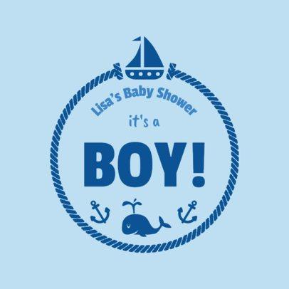 It's a Boy T-Shirt Design Template 1021d