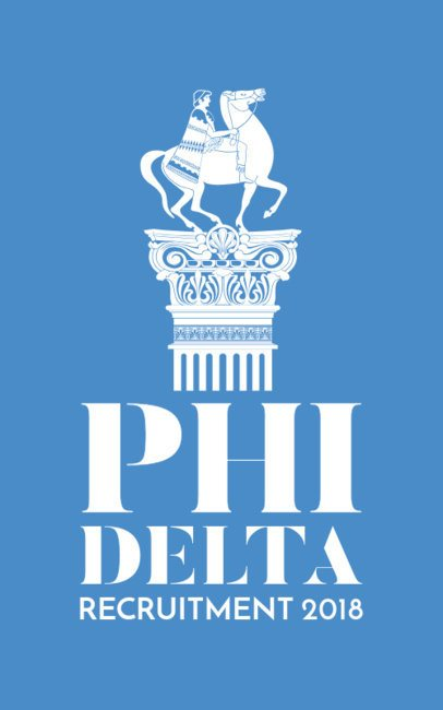 Frat Tshirt Template for a Recruitment Event 214a