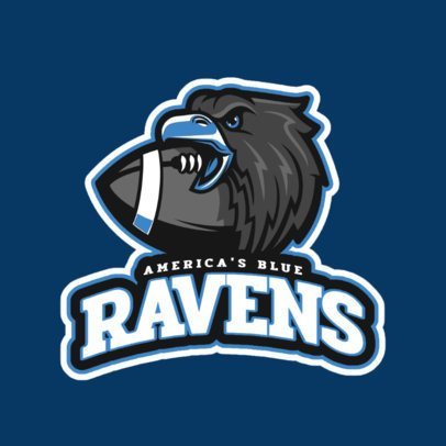 Football Mascot Sports Logo Maker 245c
