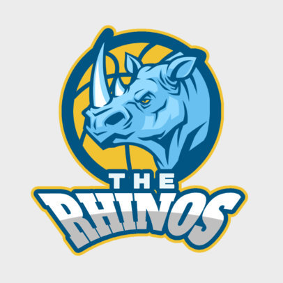 Basketball Logo Maker with Rhino Graphic 336c