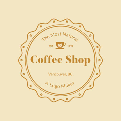 Coffee Shop Logo Maker with Classic Badge 949f