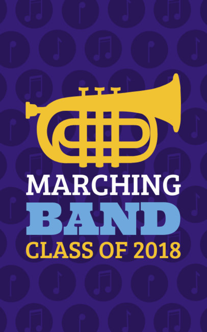 Marching Band T-Shirt Maker with Music Notes Graphics 201b