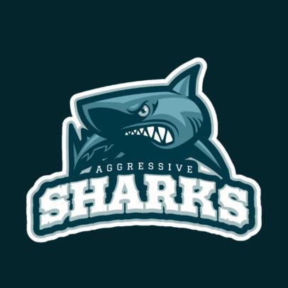 Sports Logo Maker with Bull Shark Art 21b