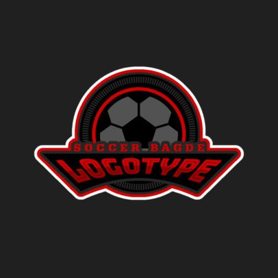 Soccer Badge Sports Logo Maker 196d