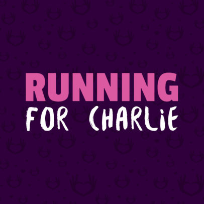 Running For a Charity T-Shirt Template 899d